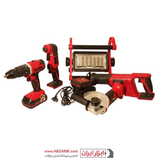 مشاهده کیت 5 ابزار شارژی 20 ولت محک مدل KIT-20LI در فروشگاه اینترنتی ابزارایران
