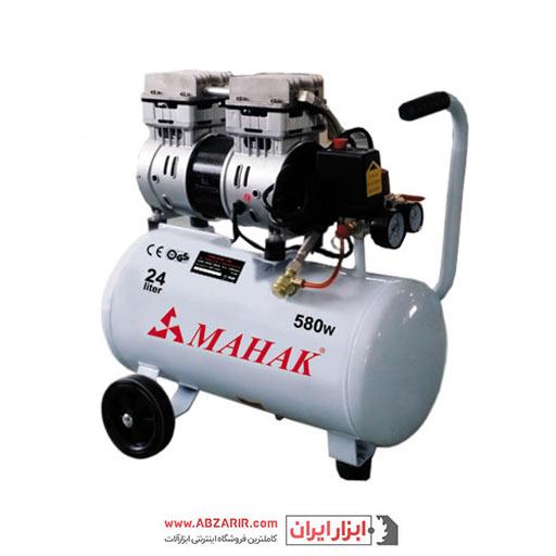 کمپرسور ۲۵ لیتری بیصدا بدون روغن محک مجهز به شیر برقی HSU550-25L